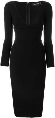 DSQUARED2 fitted V-neck dress