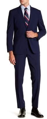 Kenneth Cole Reaction Woven Two Button Notch Lapel Slim Fit Suit