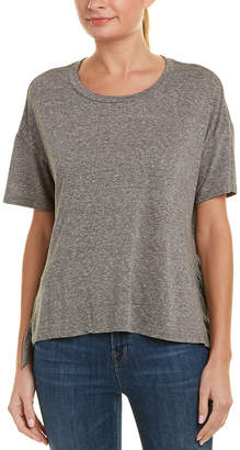 Current/Elliott Side Slit Ruffle T-Shirt