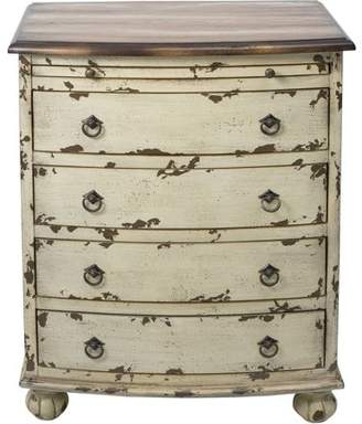 Generic White Distressed Two Tone Drawer Chest