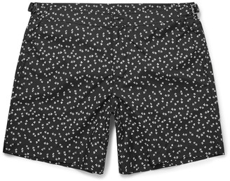 Dolce & Gabbana Slim-Fit Mid-Length Printed Swim Shorts $750 thestylecure.com
