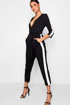 boohoo Stripe Side Jumpsuit