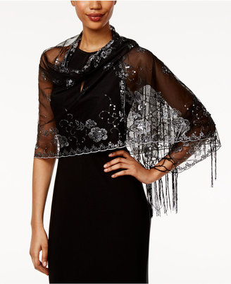 INC International Concepts Embellished Fringe Wrap, Only at Macy's $48.50 thestylecure.com
