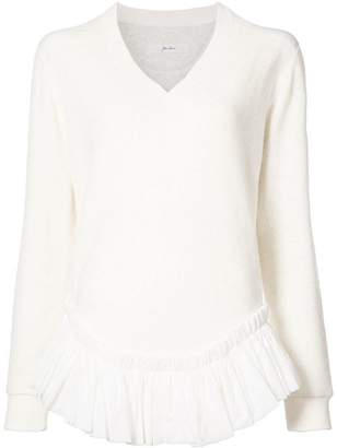 Julien David frill trim blouse