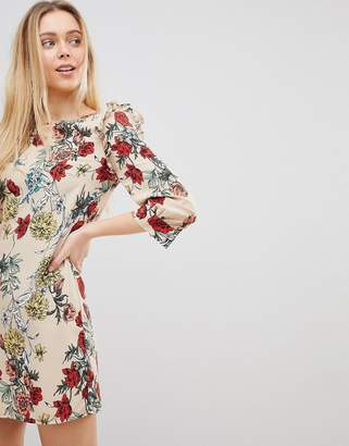 Girls On Film Floral Shift Dress