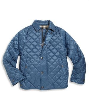 Burberry Little Boy's & Boy's Luke Quilted Jacket $250 thestylecure.com