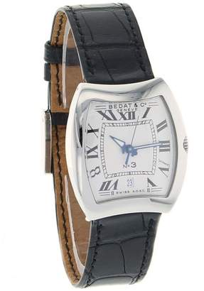 Bedat & Co Bedat Women's 'No. 3' Swiss Automatic Stainless Steel and Leather Dress Watch
