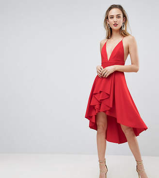 Asos Tall Cami Deep Plunge Skater Mini Dress