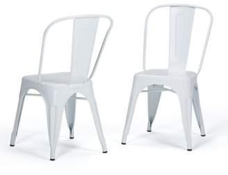 Simpli Home Fletcher Metal Dining Side Chair (Set of 2)