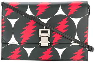 Proenza Schouler bolt print clutch bag