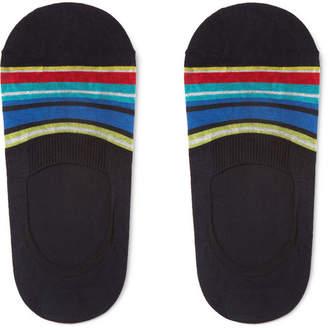 Pantherella Miami Striped Stretch Cotton-Blend No-Show Socks