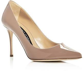 Sergio Rossi Women's Godiva Patent Leather Pointed Toe Pumps