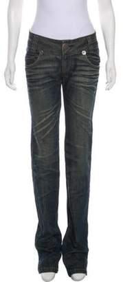 Thomas Wylde Mid-Rise Straight-Leg Jeans blue Mid-Rise Straight-Leg Jeans