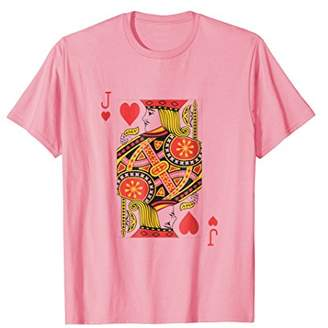 Jack Of Hearts Playing Card Costume Halloween T-Shirt Cute
