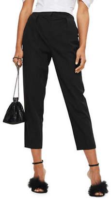 Topshop Pleated Peg Leg Trousers