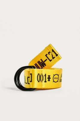 Urban Outfitters Coded Yellow Belt - yellow at