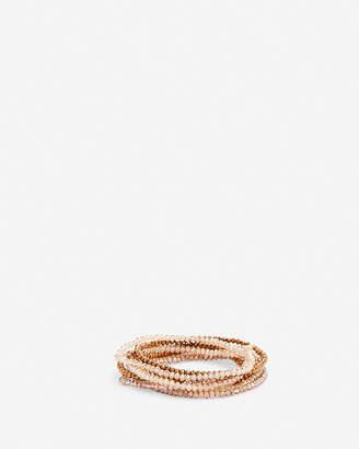 Express 9 Row Faceted Stretch Bracelet Set