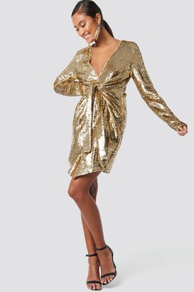 Xle The Label Alyssa Sequin Dress Champagne