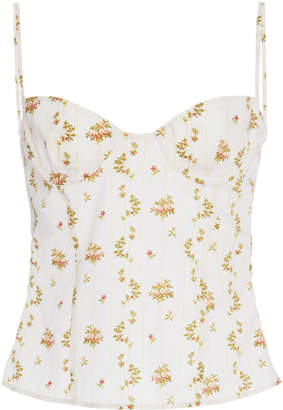 Brock Collection Oboe Floral Bustier Top