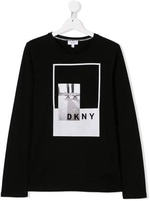 DKNY TEEN photo print long-sleeved T-shirt
