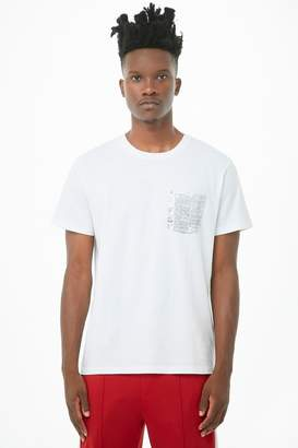Forever 21 Newspaper Print-Pocket Graphic Tee