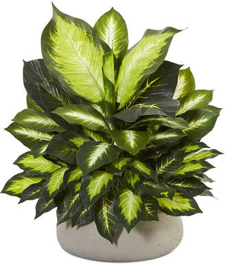 Nearly Natural Giant Dieffenbachia Artificial Plant in Stone Planter