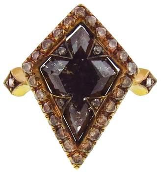 Cathy Waterman Kite-Shaped Rustic Cognac Diamond Ring