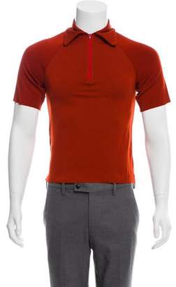 Wales Bonner Wool Zip-Up Polo Shirt