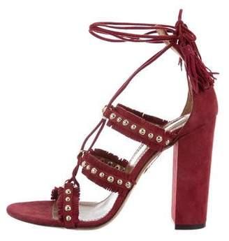 Aquazzura Tulum 105 Studded Sandals