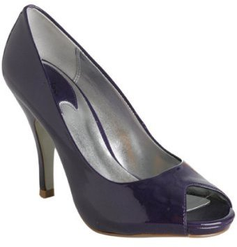 Charles by Charles David purple patent leather 'Agatha' peep toe pumps