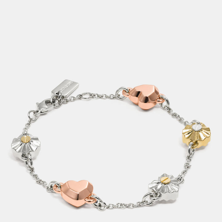 Coach  COACH Coach Daisy Rivet Heart Locket Bracelet