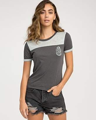 RVCA Junior's Safe Harbor Color Block T-Shirt
