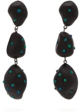 Vanda Jacintho - Artsy Opal Embellished Drop Earrings - Womens - Blue
