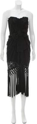 Dolce & Gabbana Lace Fringe Dress
