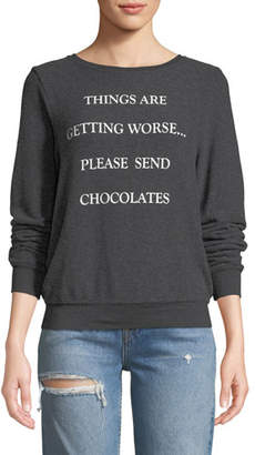 Wildfox Couture Send Chocolates Graphic Pullover Sweater
