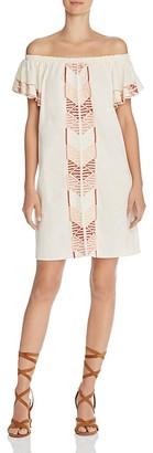 Piper Bogo Off-the-Shoulder Dress $187 thestylecure.com