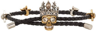 Alexander McQueen Black Queen Friendship Bracelet
