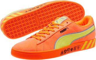 Puma Hazard Orange Suede Sneakers