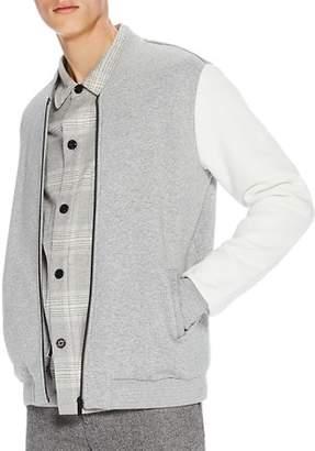 Scotch & Soda Color-Block Sweatshirt Bomber Jacket