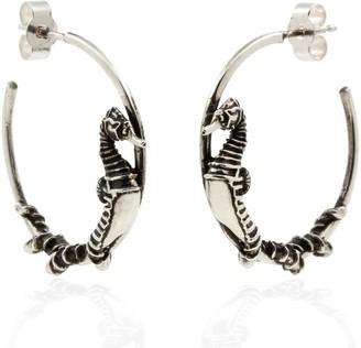 Lee Renee Seahorse Hoop Earrings Silver