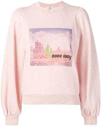 Ganni puffed boss lady sweatshirt