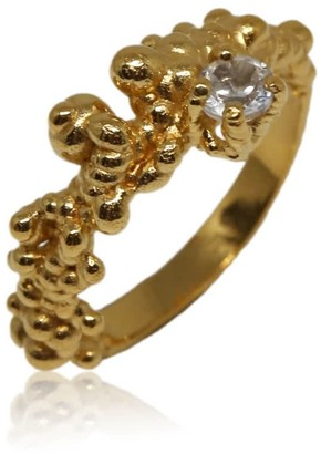 Karolina Bik Jewellery Mammatus Ring Gold With White Topaz