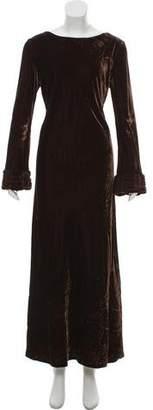 Alberta Ferretti Velvet Maxi Dress