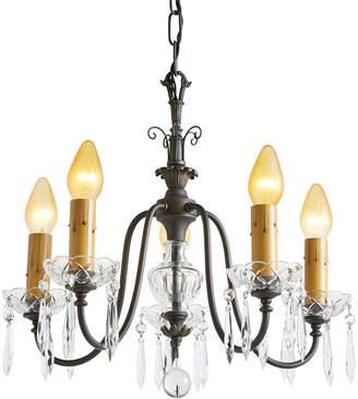 Rejuvenation Sparkling 5-Light Revival Cut Crystal & Brass Chandelier