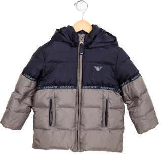 Armani Junior Armani Junior Boys' Hooded Puffer Coat