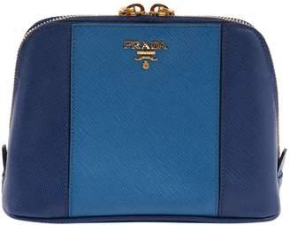 Prada Blue Leather Clutch Bag
