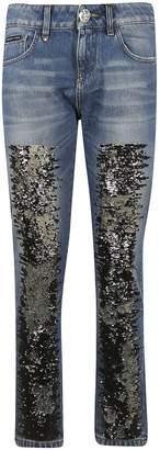 Philipp Plein Sequin Embellished Jeans