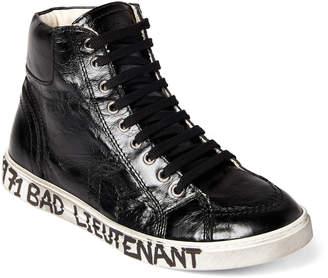 Saint Laurent Black Joe Moroder Mid-Top Sneakers
