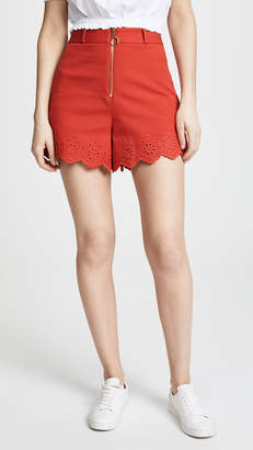 Derek Lam 10 Crosby High Waisted Embroidery Shorts