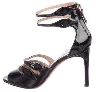 Valentino Patent Leather Multistrap Sandals